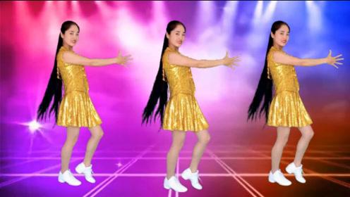 劲爆DJ广场舞《路灯下的小姑娘》蹦迪舞曲,动感时尚,附教学