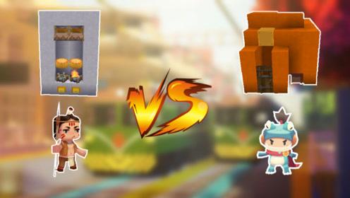 迷你世界:新手vs大神,生活机器大比拼,你更喜欢谁的建造?