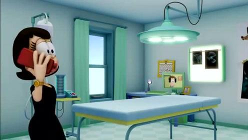 加菲猫:丽萨看到电视上老姜的样子,脸上的表