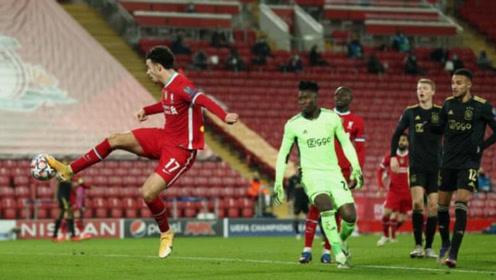 欧冠-琼斯踩射破空门,利物浦1-0阿贾克斯提前1轮锁头名