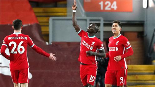 英超:马内破门 利物浦1-1西布朗 继续领跑积分榜!