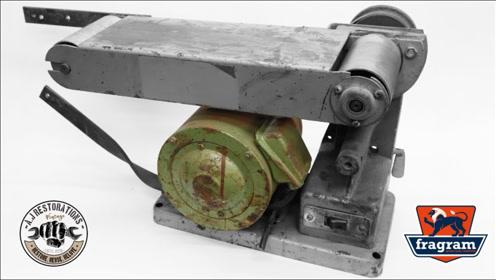 修复1983年的复古皮带砂光机,翻新过程很专业