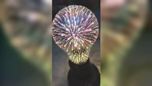 3D星丝复古灯泡,点亮后太华丽了