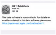 苹果 iOS 11公测版来了