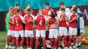 惊魂14分钟!丹麦球星欧洲杯赛场突然倒地不醒