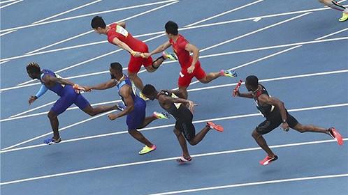 钻石联赛男子4X100米:中国强势夺冠