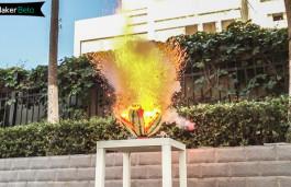 慢镜头下的西瓜爆炸瞬间