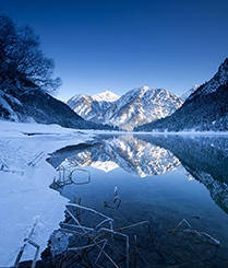 加拿大梦幻宝石蓝色冰川湖