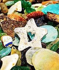 数吨垃圾变成晶莹美丽沙滩