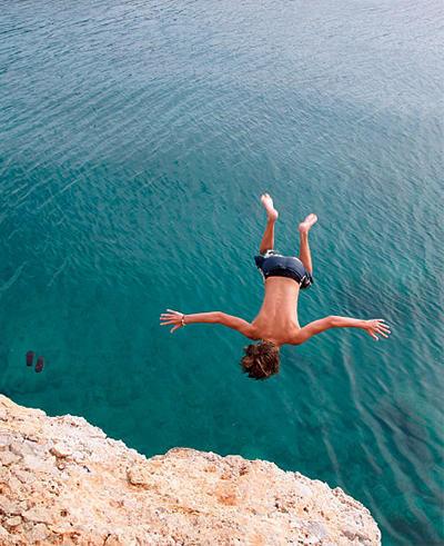 悬崖跳水就问你敢不敢
