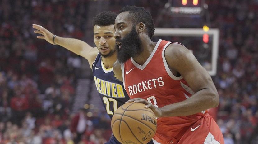 NBA-火箭擒掘金灯炮44分21助攻