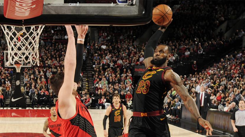 NBA-骑士105-113开拓者