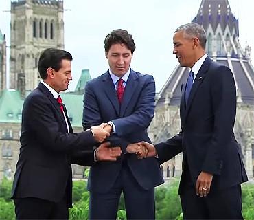 外交史上最尴尬的领导人间握手