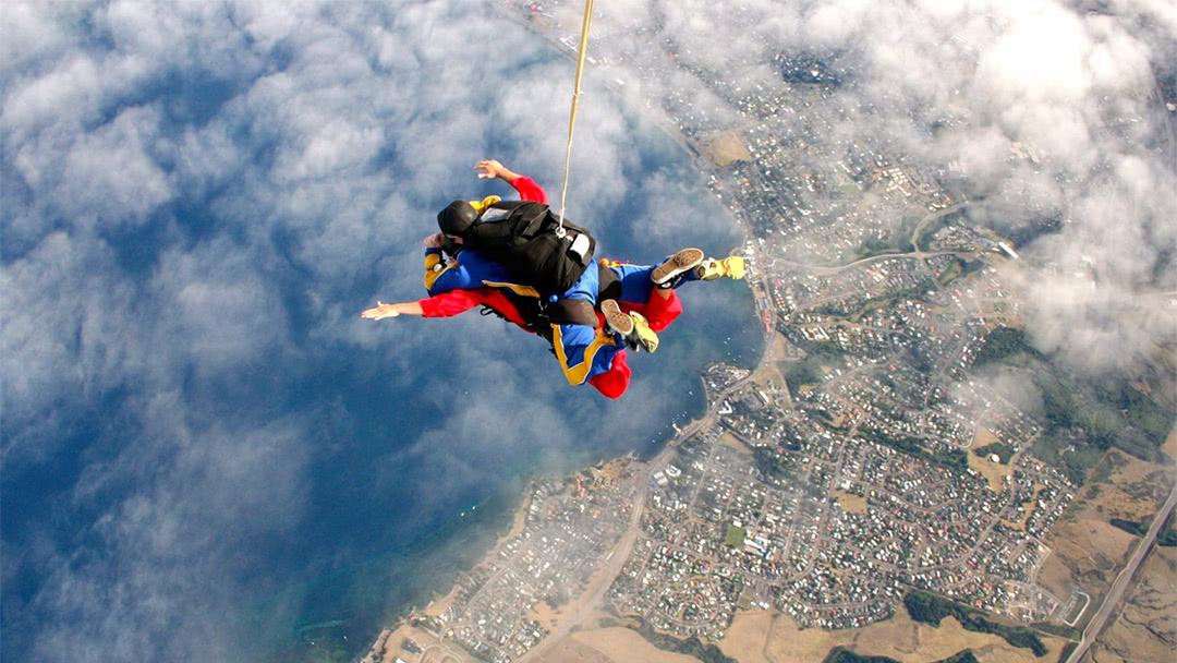 极限跳伞爱好者都是大神