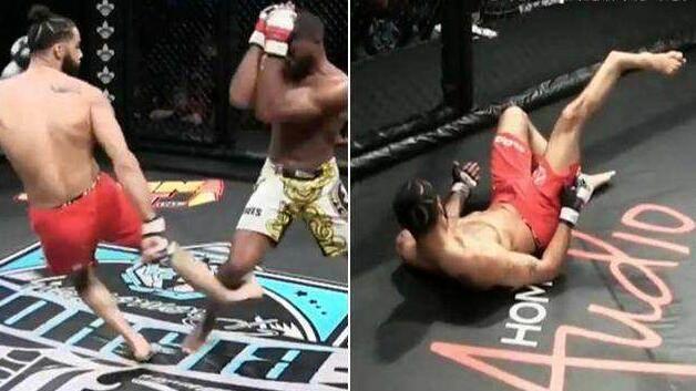 MMA选手攻击对手用力过猛