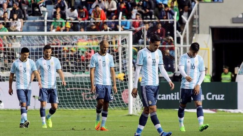世预赛玻利维亚2-0阿根廷