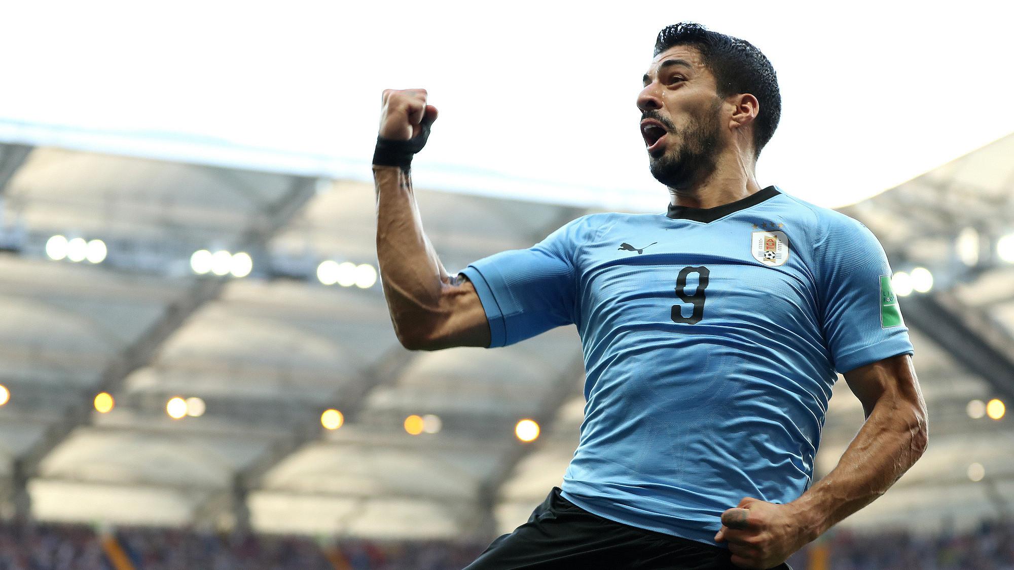 世界杯A组:乌拉圭1-0沙特