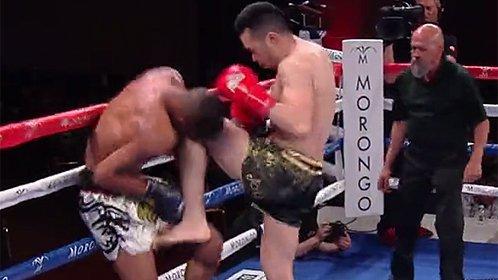中国拳王一回合打趴美国名将