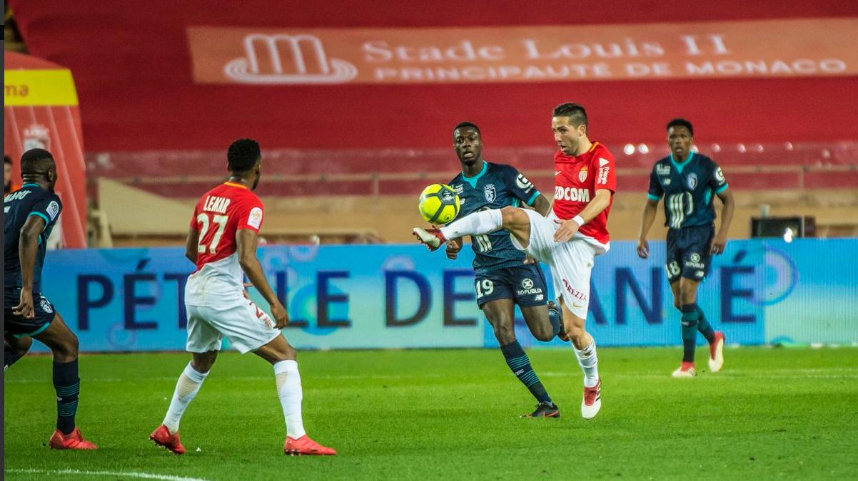 法甲-摩纳哥2-1里尔