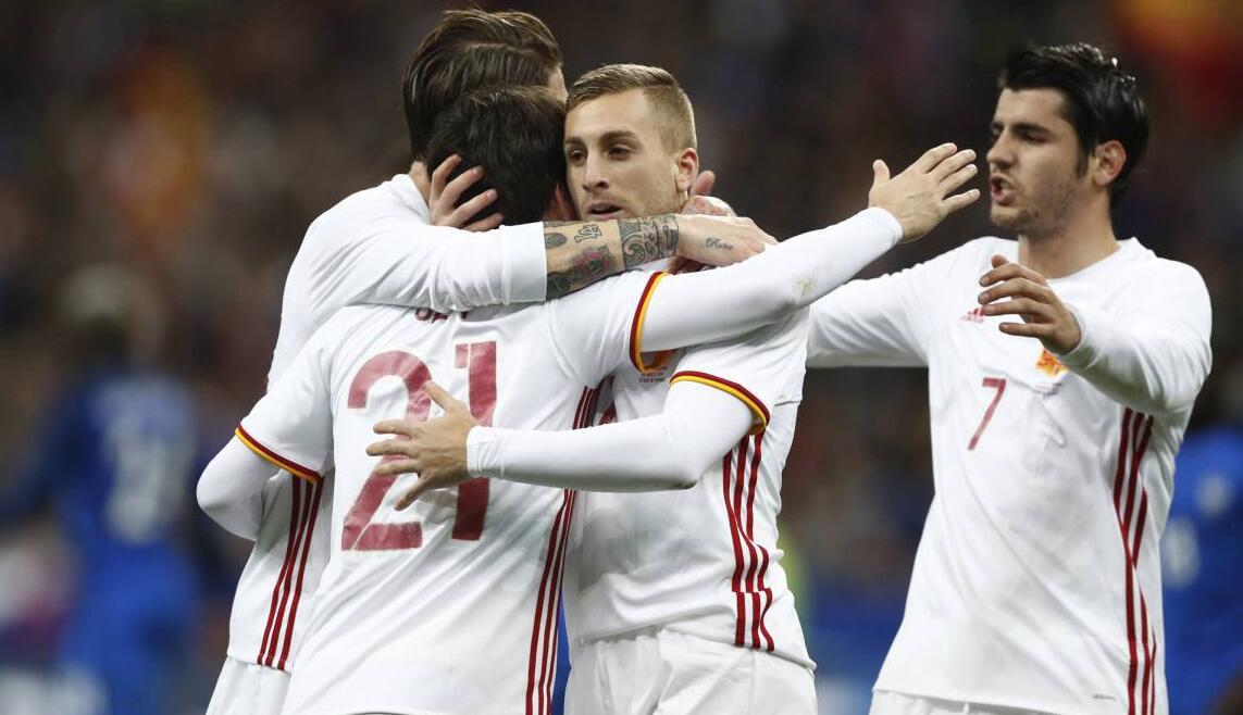 热身赛法国 0-2 西班牙
