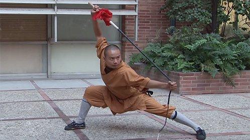 少林武僧在美国表演秀神技