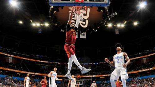 NBA季前赛暴扣集锦
