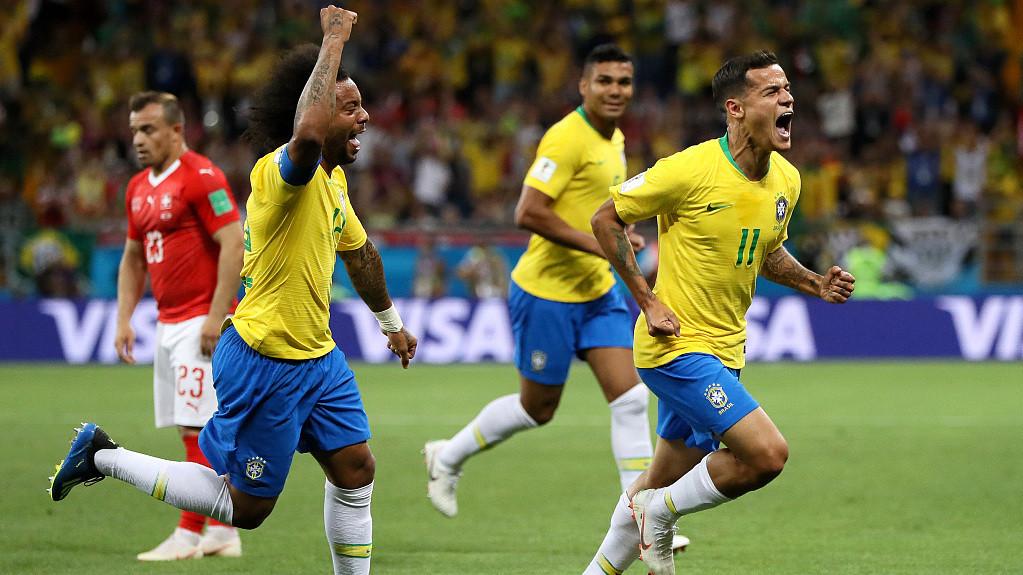 世界杯E组:巴西1-1瑞士