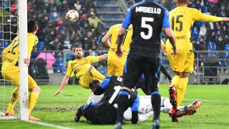 欧联杯:亚特兰大1-1多特