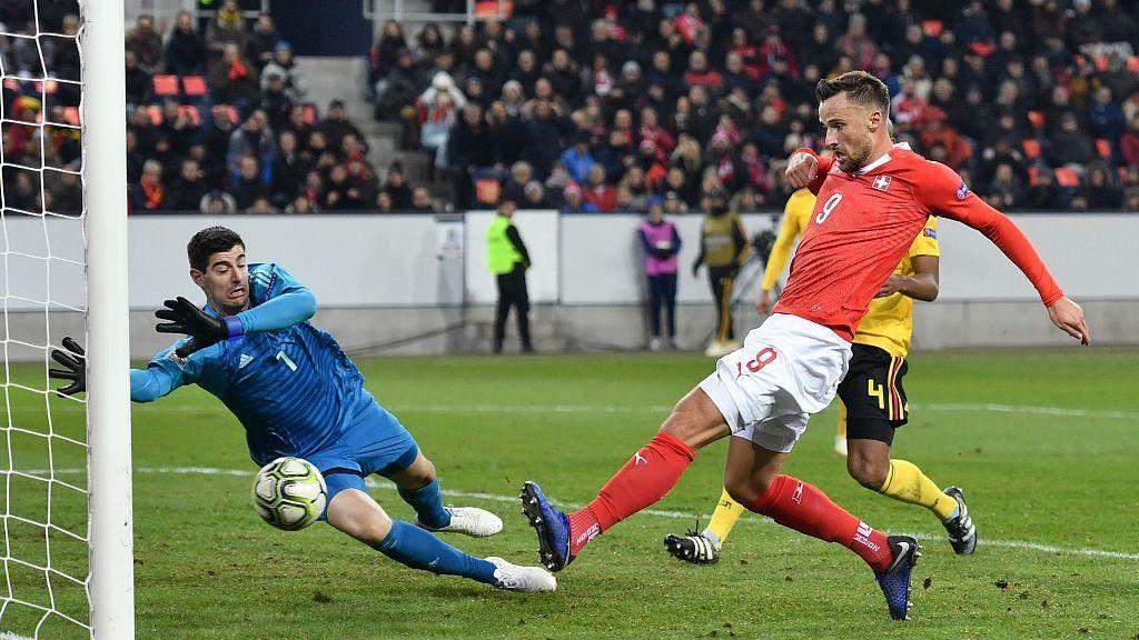欧国联瑞士5-2比利时