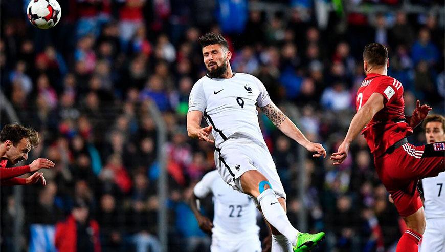 世预赛卢森堡1-3法国