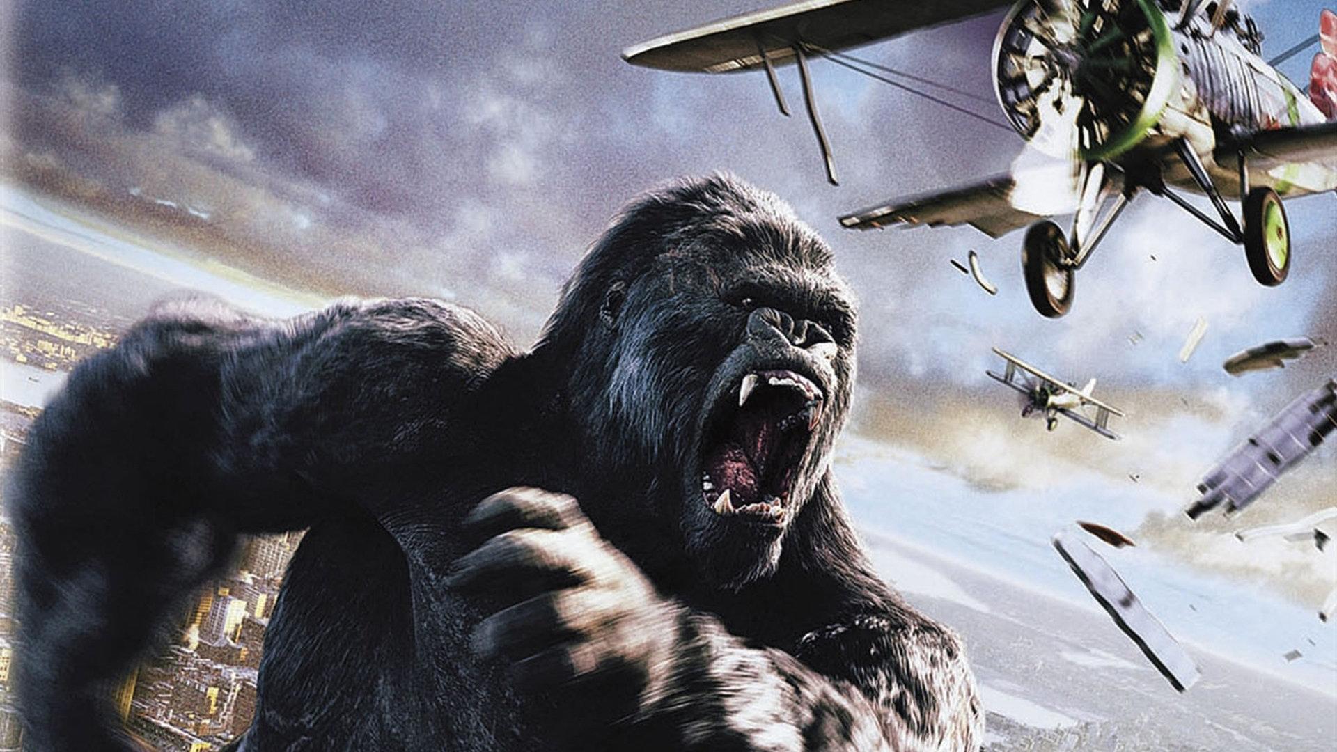 安尖声惊叫,引来了传说中骷髅岛的猩猩——金刚的关注.