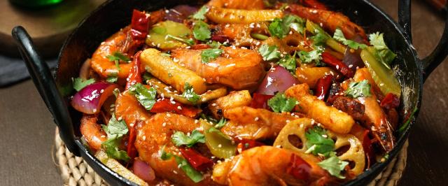 香到能連殼吃,幹鍋蝦不愧是蝦中最香的做法!