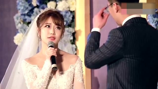 新郎新娘一段简短而深情的告白,让人看到了爱情本来的样子!