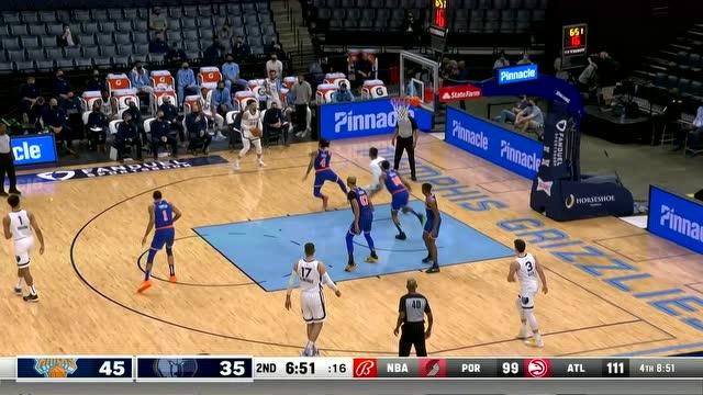 灰熊队集锦:布鲁克斯25分瓦兰16助攻不敌尼克斯_NBA全场集锦