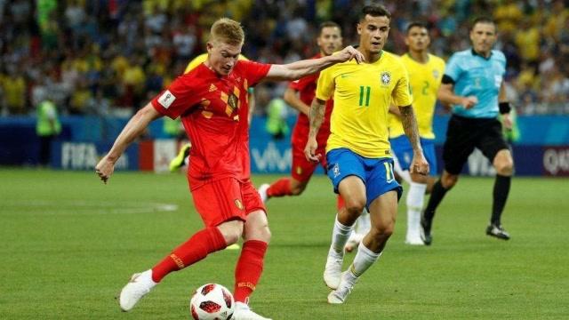 回顾国际杯经典,比利时大战巴西,德布劳内国际波送桑巴军团回家
