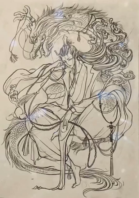 哪吒之魔童降世,铅笔画个手绘