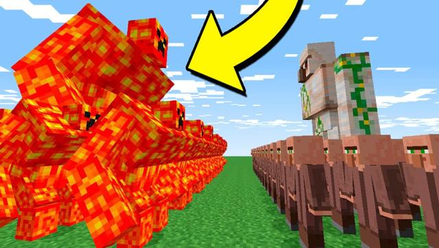 我的世界:岩浆傀儡VS铁傀儡 谁更厉害?