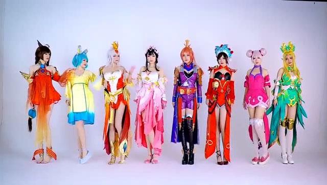 王者荣耀cosplay真人秀 都是小美女哦