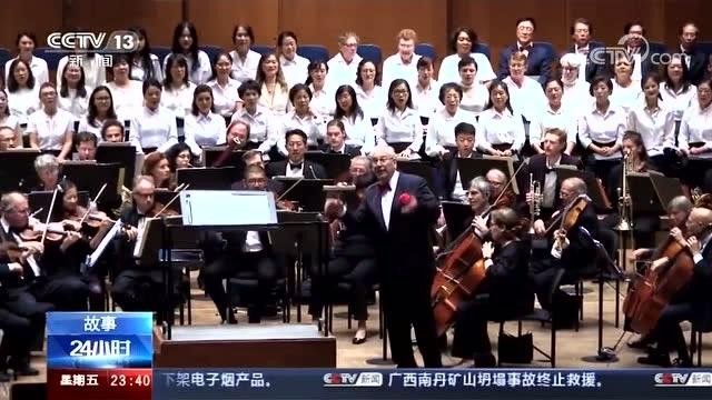 高唱中國抗戰歌曲的美國合唱團