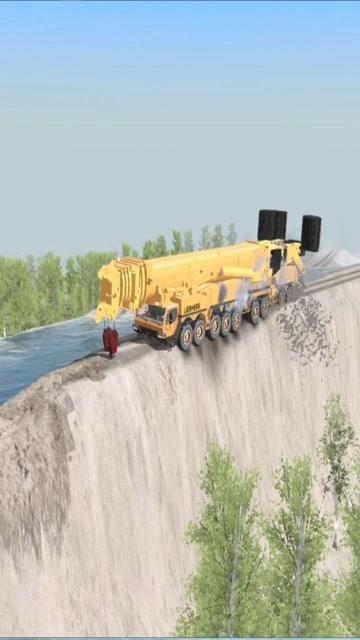 利勃海尔1200吨吊车出事故 (352播放)