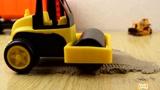 儿童迷你工程车玩具视频迷你挖掘机翻斗车压路机表演视频