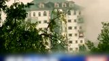 印度安全部队与恐怖分子交火现场