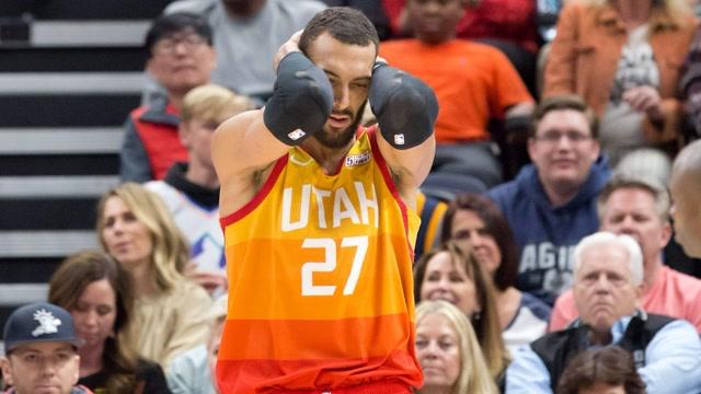 重磅!戈貝爾新冠病毒檢測呈陽性 NBA隨即宣佈停賽