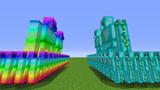 小君姐姐我的世界:100只彩虹傀儡对战500只钻石傀儡?