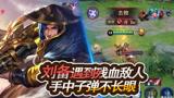 王者荣耀:刘备伤害爆炸,抓到敌方残血,收掉人头就是这么简单