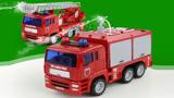会喷水的玩具消防车玩具车惯性工程车云梯供水车119救火车