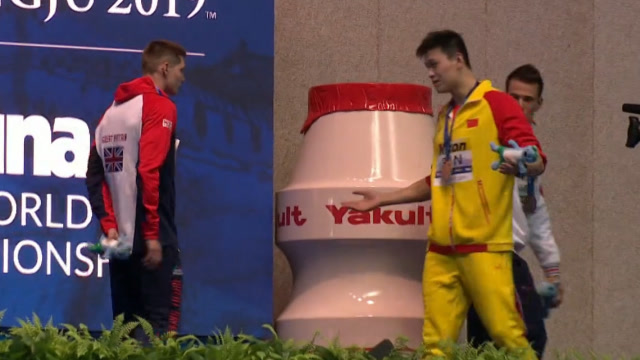 孙杨用怒吼回应英国运动员斯科特,嘲讽其是手下败将 大佬时光 第1张