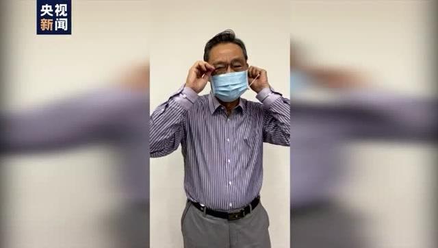 鍾南山院士示範正確摘口罩方法 快來學一學!