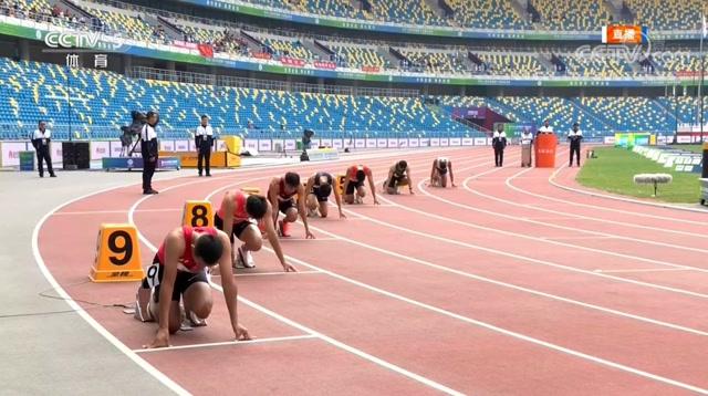 全运会男子200米预赛,谢震业20秒55小组第一晋级决赛