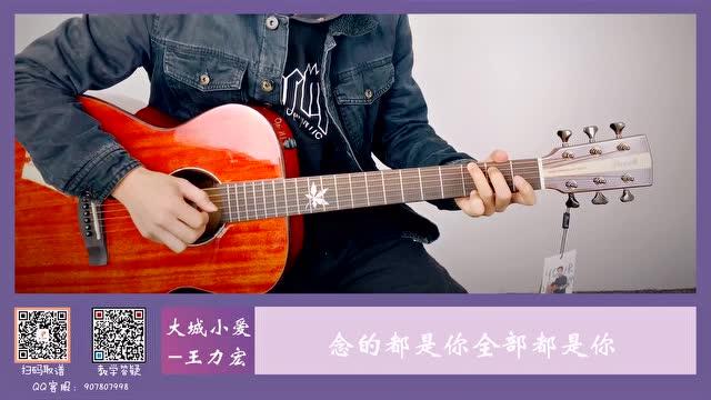 王力宏《大城小爱》吉他演奏视频【西二吉他】